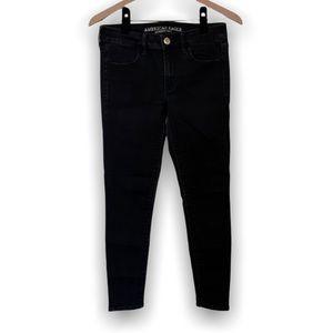 American Eagle Super Stretch Black Jeans Size 6